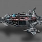 Das große Schlachtschiff der Droons: Die Zereo. Mit ihr wollen sie die Dayigons vollkommen ausrotten.